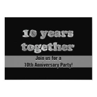 10. Jahrestags-Party | 10 Jahre zusammen 12,7 X 17,8 Cm Einladungskarte