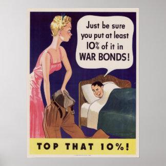 10 Prozent-Kriegs-Bindungen Poster