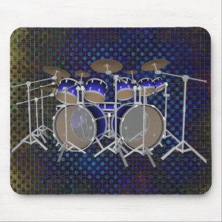 10 Stück-Trommel-Ausrüstung: Blaue Steigung: Mousepad