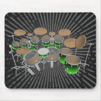 10 Stück-Trommel-Ausrüstung: Grüne Steigung: Mousepad