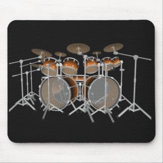 10 Stück-Trommel-Ausrüstung: Orange Steigung: Mousepad