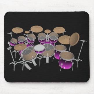10 Stück-Trommel-Ausrüstung: Violette Steigung: Mauspads