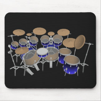 10 Stück-Trommel-Set: Blaue Steigung: Trommeln Mousepad
