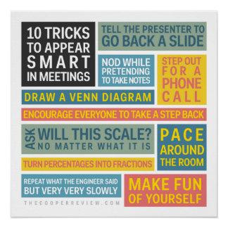 10 Tricks, zum während der Sitzungen intelligent Poster