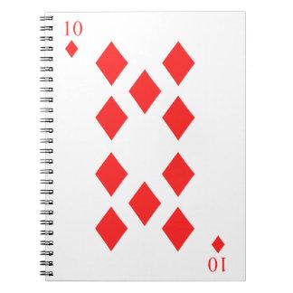 10 von Diamanten Notizblock