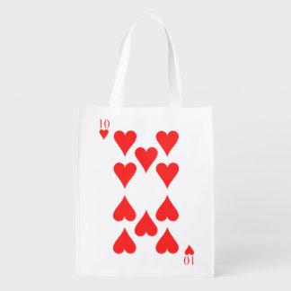 10 von Herzen Wiederverwendbare Einkaufstasche
