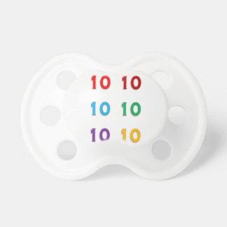 10. zehnte Xth Geburtstags-Jahrestags-Jahre Schnuller