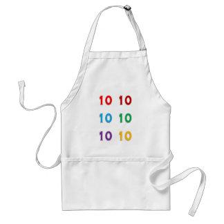 10. zehnte Xth Geburtstags-Jahrestags-Jahre Schürze