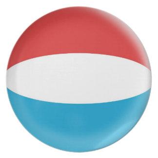 10 Zoll Platte Luxemburg kennzeichnen Teller