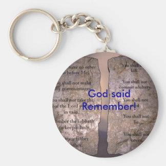 10commandments-1, God sagte Remember! Schlüsselband