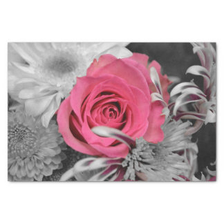 10lb Seidenpapier, rosa Rose auf Schwarzem u. Weiß Seidenpapier