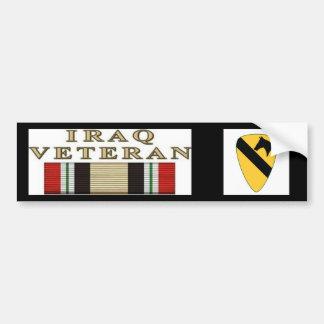 10x10_1stCav-Logo_V01, der Irak-Kriegsveteran Autoaufkleber