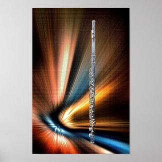 10x14 Flöte Plakat oder Bild für Musiker
