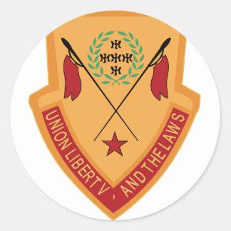 110th Cavalry Regiment Military Round Sticker