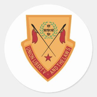 110th Kavallerie-Regiment-Militär Runder Aufkleber