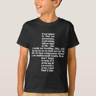 112+Der T - Shirt der CPR-Dunkelheits-Kinder