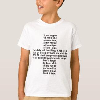 119+Der T - Shirt CPR-Kinder