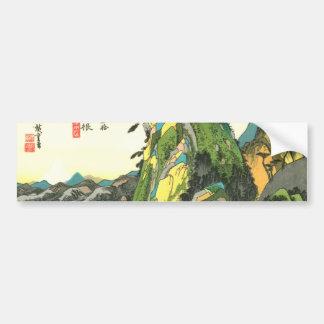 11. 箱根宿, 広重 Hakone-juku, Hiroshige, Ukiyo-e Autoaufkleber