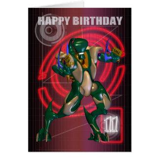 11. Alles Gute zum Geburtstag mit Roboter-Krieger Karte