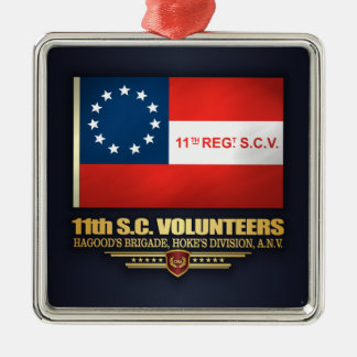 11. Freiwillige Infanterie South Carolina Silbernes Ornament