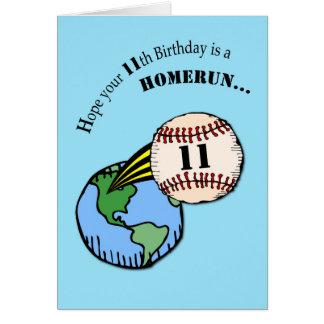 11. Geburtstags-Baseball-Zuhause-Lauf Karte