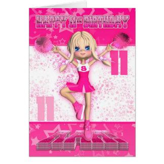 11. Geburtstags-Cheerleader-Tanzen, Sterne in den Grußkarte