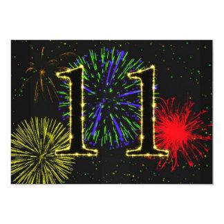 11. Geburtstags-Party Einladung