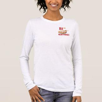 11. Geburtstags-Pizza-Party Langarm T-Shirt