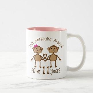 11. Hochzeitstag-Geschenke Zweifarbige Tasse
