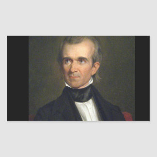 11 James Knox Polk Rechteckiger Aufkleber