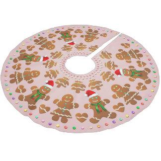 11 Lebkuchen-Jungen und Mädchen, die Weihnachten Polyester Weihnachtsbaumdecke