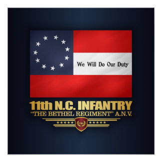 11. North Carolina-Infanterie Poster
