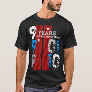 11. September Gedächtnis in 9 Jahre schwarze T - T-Shirt