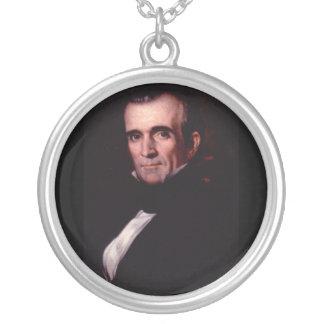 11. US Präsident James-K. Polk Versilberte Kette
