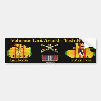 """11. Valorous Einheit ACR - Kambodscha """"Angelhaken Autoaufkleber"""