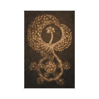 11 x 17 abstraktes Bronzephoenix Leinwanddruck