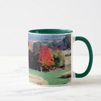 11oz Tasse, zwei tonen, Wisconsin-Landschafts-Fall Tasse