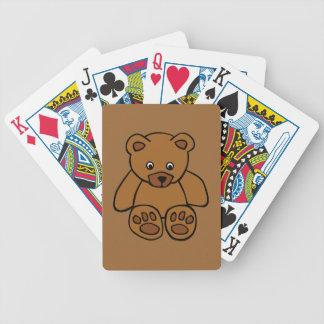 12703 Einfach-Teddybär-Bärvektor-BROWN-TEDDYBÄR T Bicycle Spielkarten