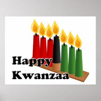 12-26 glückliches Kwanzaa Posterdrucke