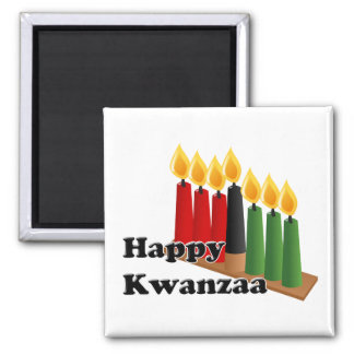12-26 glückliches Kwanzaa Quadratischer Magnet