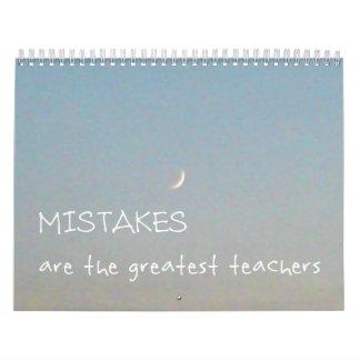 12 Fehler 2017 inspirierend Kalender