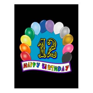 12. Geburtstags-Geschenke mit sortiertem Postkarte