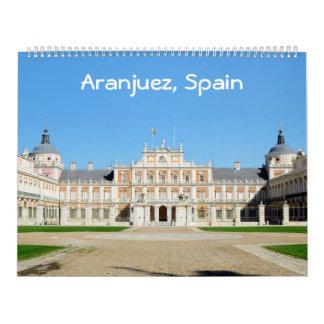 12 Monat Aranjuez, Spanien Foto-Kalender Abreißkalender