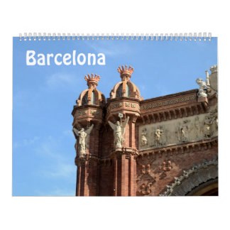 12 Monat Barcelona, Spanien Foto-Kalender Wandkalender