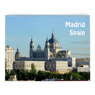 12 Monat Madrid, Spanien Foto-Kalender Abreißkalender