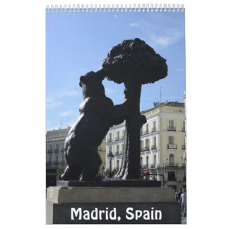 12 Monat Madrid, Spanien Foto-Kalender Kalender
