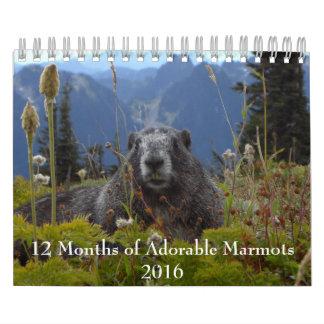12 Monate des entzückenden Kalenders der Abreißkalender