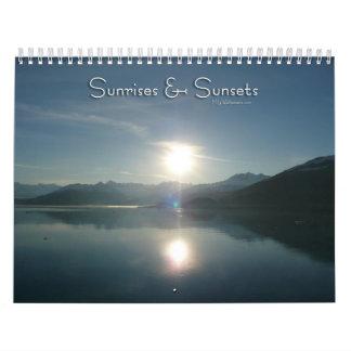 12 Monate Sonnenaufgänge und Sonnenuntergänge, 1. Abreißkalender