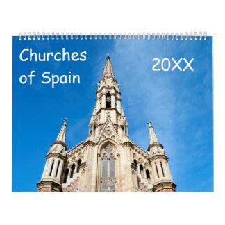12-monatige Kirchen von Spanien Abreißkalender