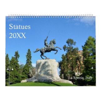 12-monatige Statuen Abreißkalender